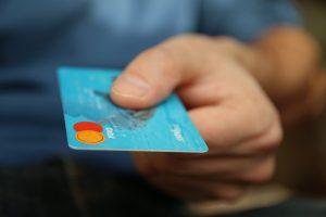 Schulden auf der Kreditkarte